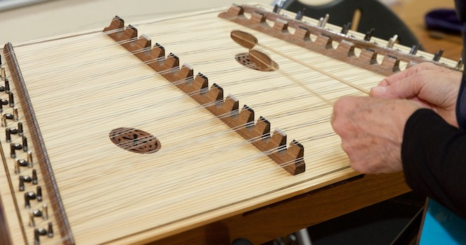 Hammered Dulcimer Player